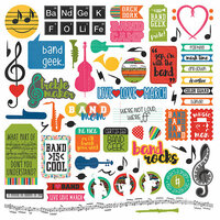 Photo Play Paper - Band Geek Collection - 12 x 12 Cardstock Stickers - Elements