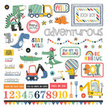 Photo Play Paper - Little Boys Have Big Adventures Collection - 12 x 12 Cardstock Stickers - Elements