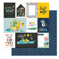 Photo Play Paper - Little Boys Have Big Adventures Collection - 12 x 12 Double Sided Paper - Best Kid Ever
