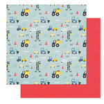 Photo Play Paper - Little Boys Have Big Adventures Collection - 12 x 12 Double Sided Paper - Boys Love Trucks
