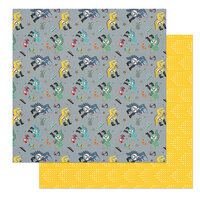 Photo Play Paper - Little Boys Have Big Adventures Collection - 12 x 12 Double Sided Paper - Chomp Chomp