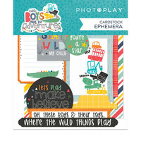 Photo Play Paper - Little Boys Have Big Adventures Collection - Ephemera