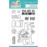 Photo Play Paper - Little Boys Have Big Adventures Collection - Clear Photopolymer Stamps