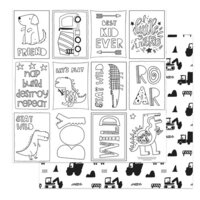Photo Play Paper - Little Boys Have Big Adventures Collection - 12 x 12 Double Sided Paper - Color Me