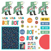 Photo Play Paper - Little Boys Have Big Adventures Collection - 12 x 12 Single Sided Paper - Elements