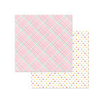 Photo Play Paper - Bloom Collection - 12 x 12 Double Sided Paper - Puddle
