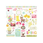 Photo Play Paper - Bloom Collection - 12 x 12 Cardstock Stickers - Elements