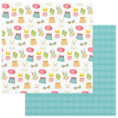Photo Play Paper - Summer Bucket List Collection - 12 x 12 Double Sided Paper - Splish Splash