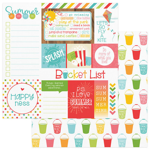 Photo Play Paper - Summer Bucket List Collection - 12 x 12 Double Sided Paper - Fun Day