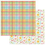 Photo Play Paper - Summer Bucket List Collection - 12 x 12 Double Sided Paper - Picnic Table