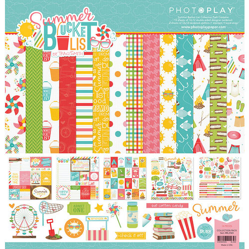 Photo Play Paper - Summer Bucket List Collection - 12 x 12 Collection Pack