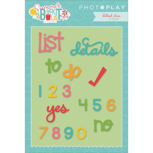 Photo Play Paper - Summer Bucket List Collection - Die Set - Planner