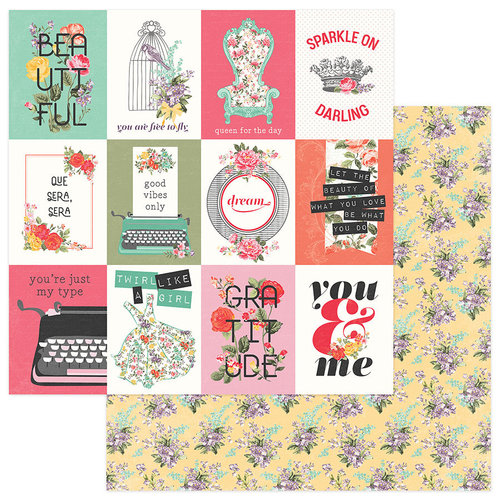 Photo Play Paper - Belle Fleur Collection - 12 x 12 Double Sided Paper - Sparkle On