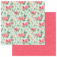 Photo Play Paper - Belle Fleur Collection - 12 x 12 Double Sided Paper - Pretty Peonies