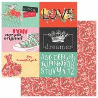 Photo Play Paper - Belle Fleur Collection - 12 x 12 Double Sided Paper - Dreamer