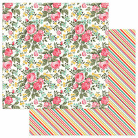 Photo Play Paper - Belle Fleur Collection - 12 x 12 Double Sided Paper - Hello Gorgeous
