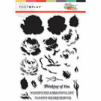 Photo Play Paper - Belle Fleur Collection - Photopolymer Stamps - Layered Flower