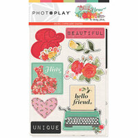 Photo Play Paper - Belle Fleur Collection - Chipboard Stickers