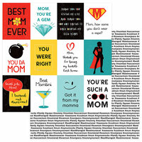 Photo Play Paper - Best Mom Ever Collection - 12 x 12 Double Sided Paper - My Mom Rocks
