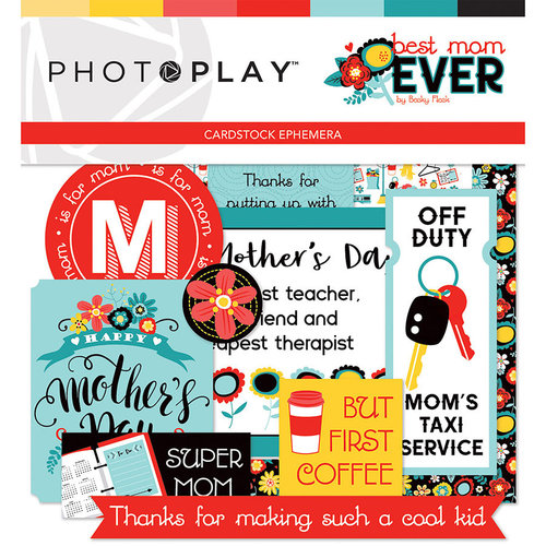 Photo Play Paper - Best Mom Ever Collection - Ephemera