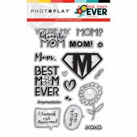 Photo Play Paper - Best Mom Ever Collection - Clear Photopolymer Stamps - Elements