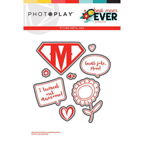 Photo Play Paper - Best Mom Ever Collection - Die Set - Elements