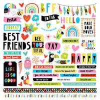 Photo Play Paper - Birds Of A Feather Collection - 12 x 12 Cardstock Stickers - Elements