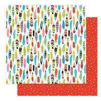 Photo Play Paper - Birds Of A Feather Collection - 12 x 12 Double Sided Paper - Tail Feathers