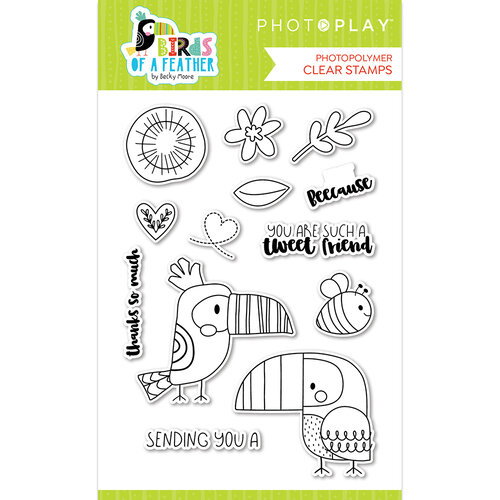 Photo Play Paper - Birds Of A Feather Collection - Clear Photopolymer Stamps