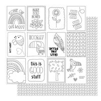 Photo Play Paper - Birds Of A Feather Collection - 12 x 12 Double Sided Paper - Color Me