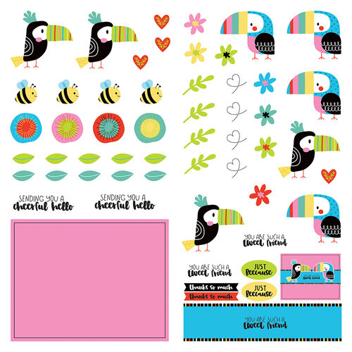 Photo Play Paper - Birds Of A Feather Collection - 12 x 12 Double Sided Paper - Dies Paper