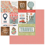 Photo Play Paper - Boarding Pass Collection - 12 x 12 Double Sided Paper - Ticket To Fly