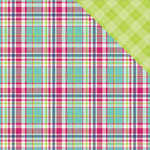Photo Play Paper - Mad 4 Plaid Collection - Delightful - 12 x 12 Double Sided Paper - Madras