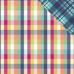 PhotoPlay Paper - Mad 4 Plaid Collection - Delightful - 12 x 12 Double Sided Paper - Lindsay