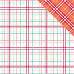Photo Play Paper - Mad 4 Plaid Collection - Delightful - 12 x 12 Double Sided Paper - Crawford
