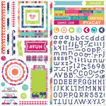 Photo Play Paper - Mad 4 Plaid Collection - Delightful - 12 x 12 Cardstock Stickers - Elements