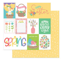 Photo Play Paper - Baskets of Bunnies Collection - 12 x 12 Double Sided Paper - Easter Wishes