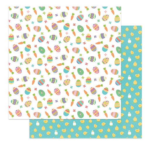 Photo Play Paper - Baskets of Bunnies Collection - 12 x 12 Double Sided Paper - Egg Hunt