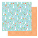 Photo Play Paper - Baskets of Bunnies Collection - 12 x 12 Double Sided Paper - Hop Hop