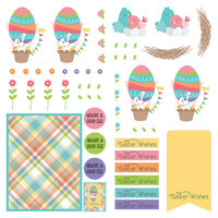 Photo Play Paper - Baskets of Bunnies Collection - 12 x 12 Paper - Elements
