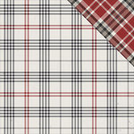 Photo Play Paper - Mad 4 Plaid Collection - Tailored - 12 x 12 Double Sided Paper - Tattersall