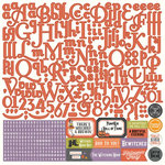 Photo Play Paper - Bootiful Collection - Halloween - 12 x 12 Cardstock Stickers - Alphabet