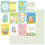 Photo Play Paper - Bunny Trail Collection - 12 x 12 Double Sided Paper - Hoppy Easter