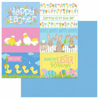 Photo Play Paper - Bunny Trail Collection - 12 x 12 Double Sided Paper - Hippity Hoppity