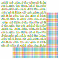 Photo Play Paper - Bunny Trail Collection - 12 x 12 Double Sided Paper - Egg Hunt