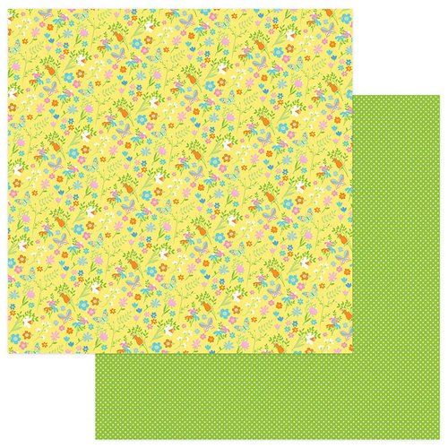 Photo Play Paper - Bunny Trail Collection - 12 x 12 Double Sided Paper - Spring Flowers