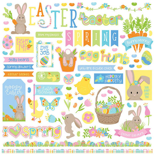 Photo Play Paper - Bunny Trail Collection - 12 x 12 Cardstock Stickers - Elements