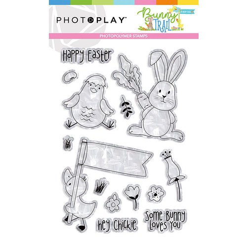 Photo Play Paper - Bunny Trail Collection - Clear Photopolymer Stamps - Elements