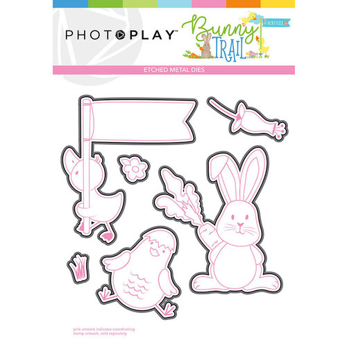 Photo Play Paper - Bunny Trail Collection - Die Set