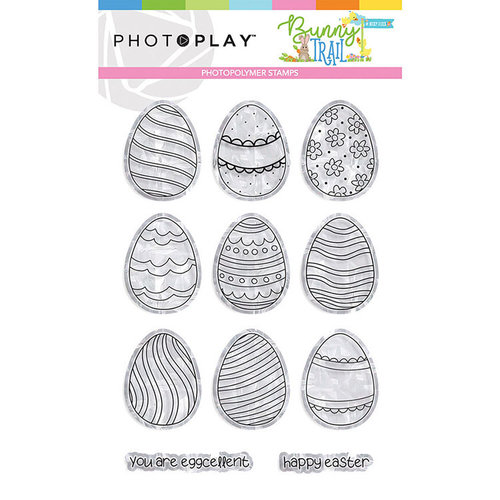 Photo Play Paper - Bunny Trail Collection - Clear Photopolymer Stamps - Egg